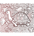 chinese turtle vector image
