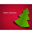 Christmas tree from cut paper background vector image vector image