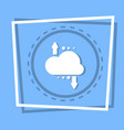 cloud with arrow icon digital data backup storage vector image vector image