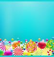 color lollypop border vector image vector image