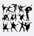 Couple ballet dancer silhouette vector image vector image