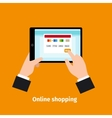 Credit card usage Online shopping vector image vector image