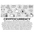 cryptocurrency and bitcoin mining blockchain vector image vector image