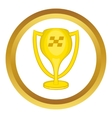 Cup for first place icon vector image vector image