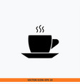 cup icon sign web office solid black on white vector image