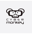 cyber monkey computer shop design template vector image vector image