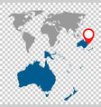 detailed map of australia oceania and world map vector image vector image