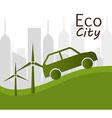 Eco city design vector image vector image