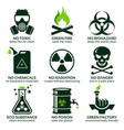 flat icon set for green eco industry vector image
