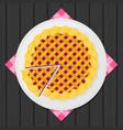 flat warm apple pie vector image vector image
