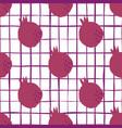 geometric pomegranate fruit seamless pattern vector image vector image