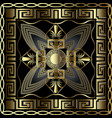 greek 3d gold seamless pattern with square vector image vector image