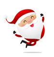 happy christmas character santa claus cartoon 016 vector image vector image