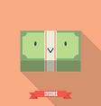 Happy money bill vector image vector image