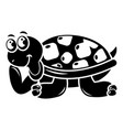 happy turtle icon simple style vector image