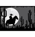 horseman rides in desert vector image