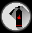 image of a flat fire extinguisher icon with a red vector image vector image