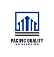 investment business building logo vector image vector image