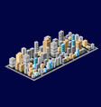 isometric downtown urban areas vector image vector image