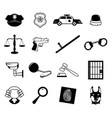 law enforcement icons vector image