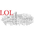 lol word cloud concept vector image vector image
