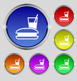 lunch box icon sign Round symbol on bright vector image vector image