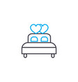 marital bed linear icon concept marital bed line vector image vector image