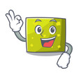 okay square character cartoon style vector image vector image