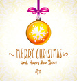 orange christmas abstract background with cool vector image