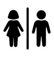 original sign icon male and female toilet vector image vector image
