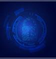 padlock cyber vector image