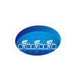 person cycling on mountain bike extreme sport vector image vector image
