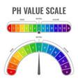 ph alkaline acidic scale indicator water balance vector image vector image