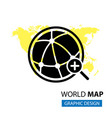 pointer in world map vector image vector image