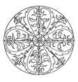 renaissance circular panel is a bas-relief design vector image vector image