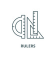 rulers line icon linear concept outline vector image vector image
