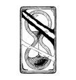 sandglass vector image vector image