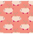 Seamless pattern of piggy bank and coins vector image