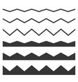 seamless wave and zigzag pattern set on white vector image