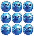 Set of colorful stickers on white background vector image vector image