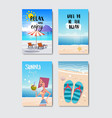 set sunny beach badge isolated typographic design vector image