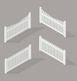 set wooden fence vector image