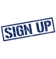 sign up stamp vector image vector image