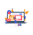 smm strategy - flat design style colorful vector image