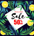 special offer sale 50 off jungle leaf and lemon b vector image vector image