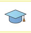 square academic graduation cap color icon vector image vector image