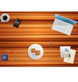 top view of working table vector image