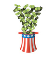 Uncle Sam hat and money American hat Hat for vector image vector image