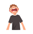 unhappy crying boy male character facial emotions vector image vector image