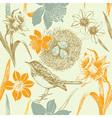 Vintage Birds Pattern vector image vector image